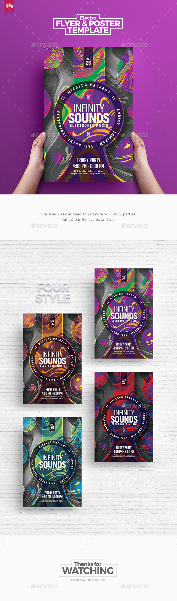 Infinity Sound - Flyer Template - Clubs & Parties Events
