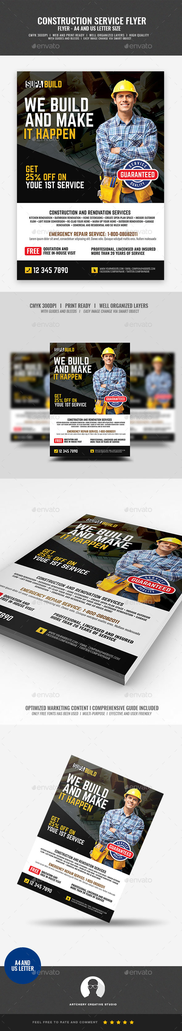 Home Renovation and Contracting Services - Corporate Flyers
