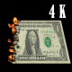 United States Of America Dollar Money Banknote Burn On Fire - VideoHive Item for Sale