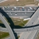 Aerial View of Highway Interchange in Moscow, Russia.