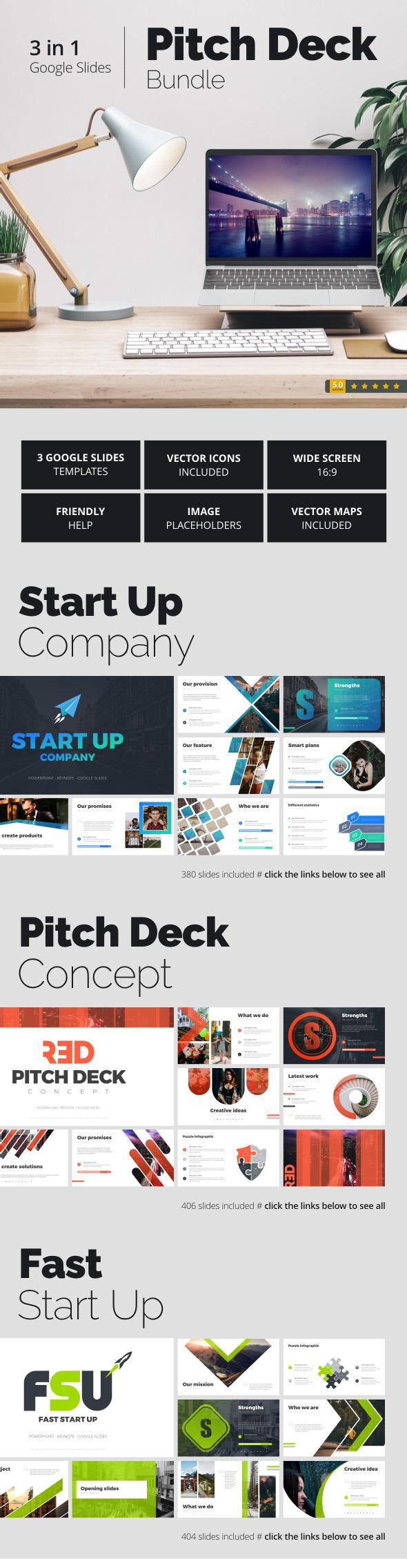 Pitch Deck Bundle - Google Slides Presentation Templates