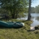 Rubber Boat on Pond - VideoHive Item for Sale