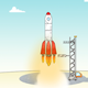 Rocket Flying To Space - VideoHive Item for Sale