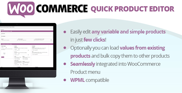 WooCommerce Quick Product Editor Plugin Worpress Free Download