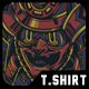 Samurai Mask T-Shirt Design