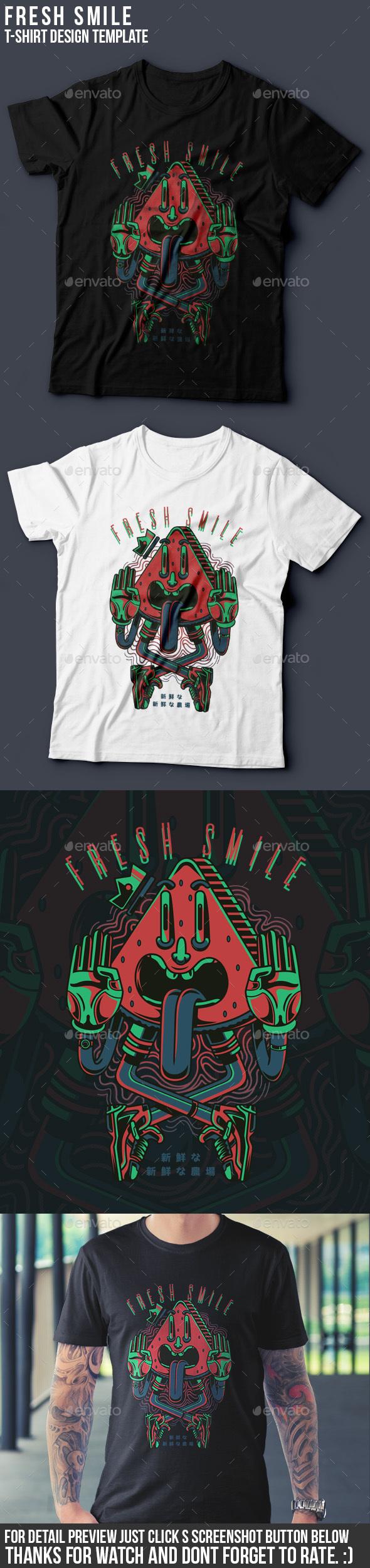 Fresh Smile T-Shirt Design - Funny Designs