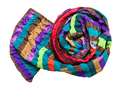 rolled stitched patchwork scarf isolated - PhotoDune Item for Sale