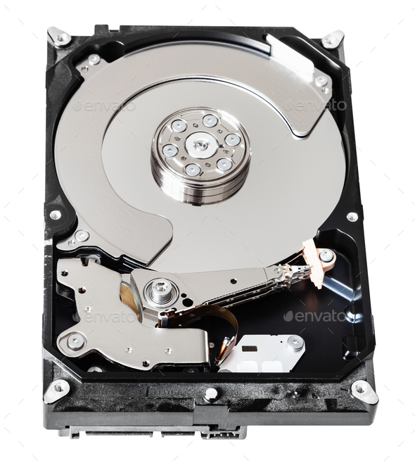 used sata hard disk drive box without cover - Stock Photo - Images
