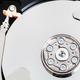 top view of open internal sata hard disk drive - PhotoDune Item for Sale