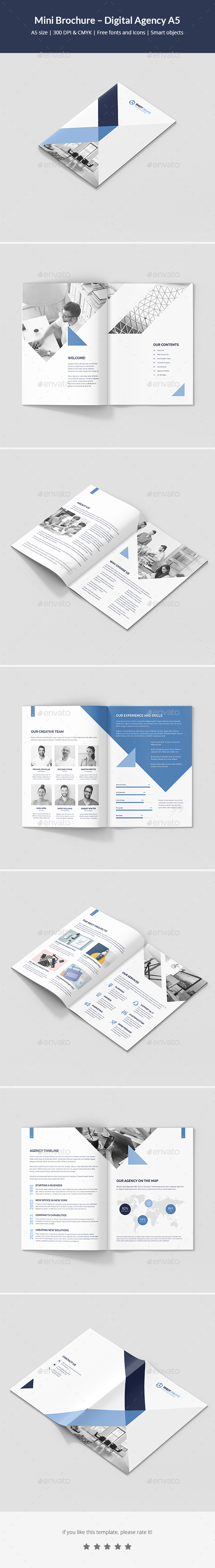 Mini Brochure – Digital Agency A5 - Corporate Brochures