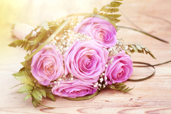 Photo of pink wedding bouquet - Stock Photo - Images