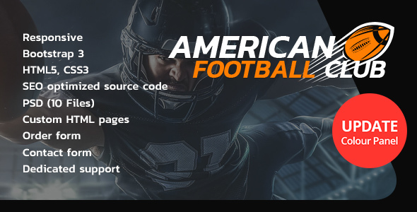 American Football HTML Website Template - Miscellaneous Site Templates