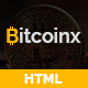Bitcoinx - Bitcoin Crypto Currency HTML Landing Page - ThemeForest Item for Sale