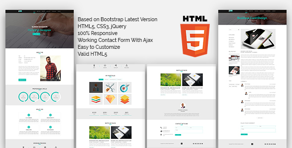PORTFOLIO One Page HTML5 Template - Creative Site Templates