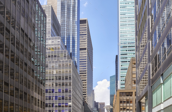 Manhattan modern architecture, New York. - Stock Photo - Images