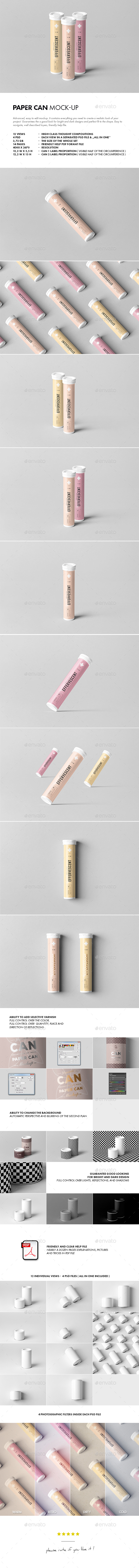 Effervescent Tablets Tube Mock-up - Food and Drink Packaging