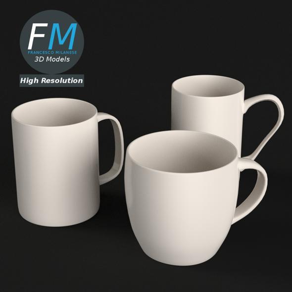 Mugs - 3DOcean Item for Sale