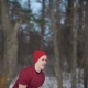 Kettlebell in a Forest in Winter Day - VideoHive Item for Sale