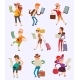 Vector People Tourist with Map Travelers Searching - GraphicRiver Item for Sale