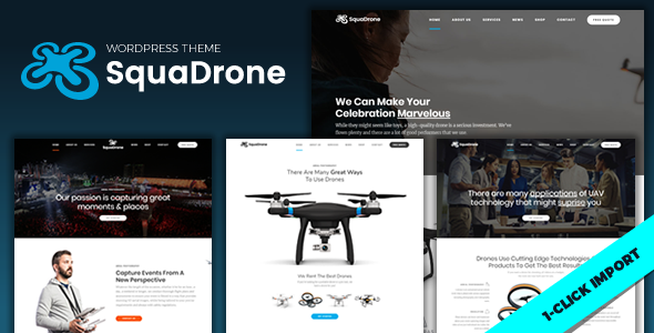 SquaDrone - UAV Business WordPress Theme