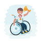 Cartoon Illustration of a Boy in a Wheelchair - GraphicRiver Item for Sale