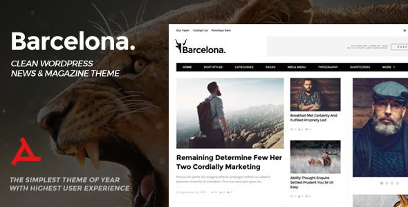 Barcelona. - Clean News & Magazine WordPress Theme - News / Editorial Blog / Magazine