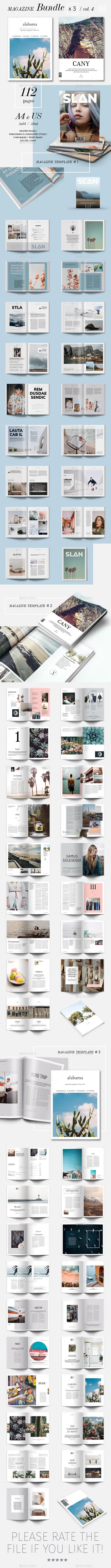 Magazine Template Bundle 04 - Magazines Print Templates