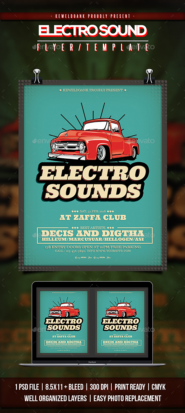 Electro Sound Flyer / Poster - Clubs & Parties Events