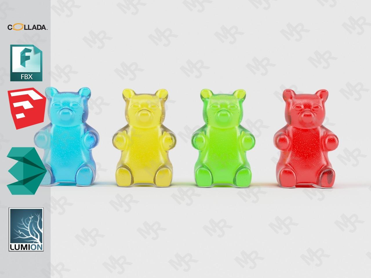 Gummy Bears Animated by Nokersoek   3DOcean