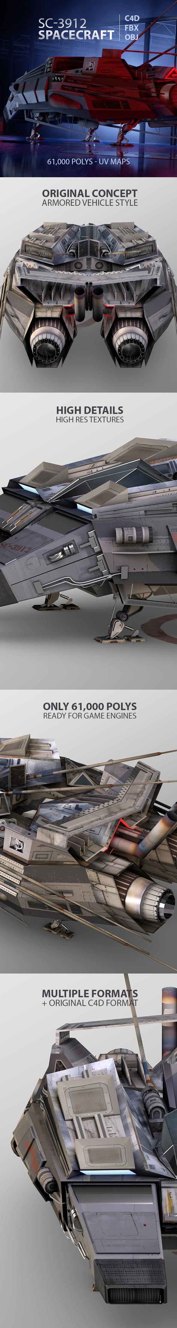 SC-3912 Spacecraft Vehicle - 3DOcean Item for Sale