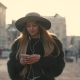 Young Girl Going the City and Listening To Music on the Phone - VideoHive Item for Sale