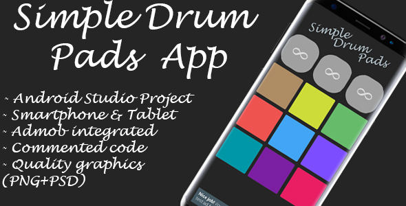 Simple Drum Pads + Admob Ads (Android Studio) - CodeCanyon Item for Sale