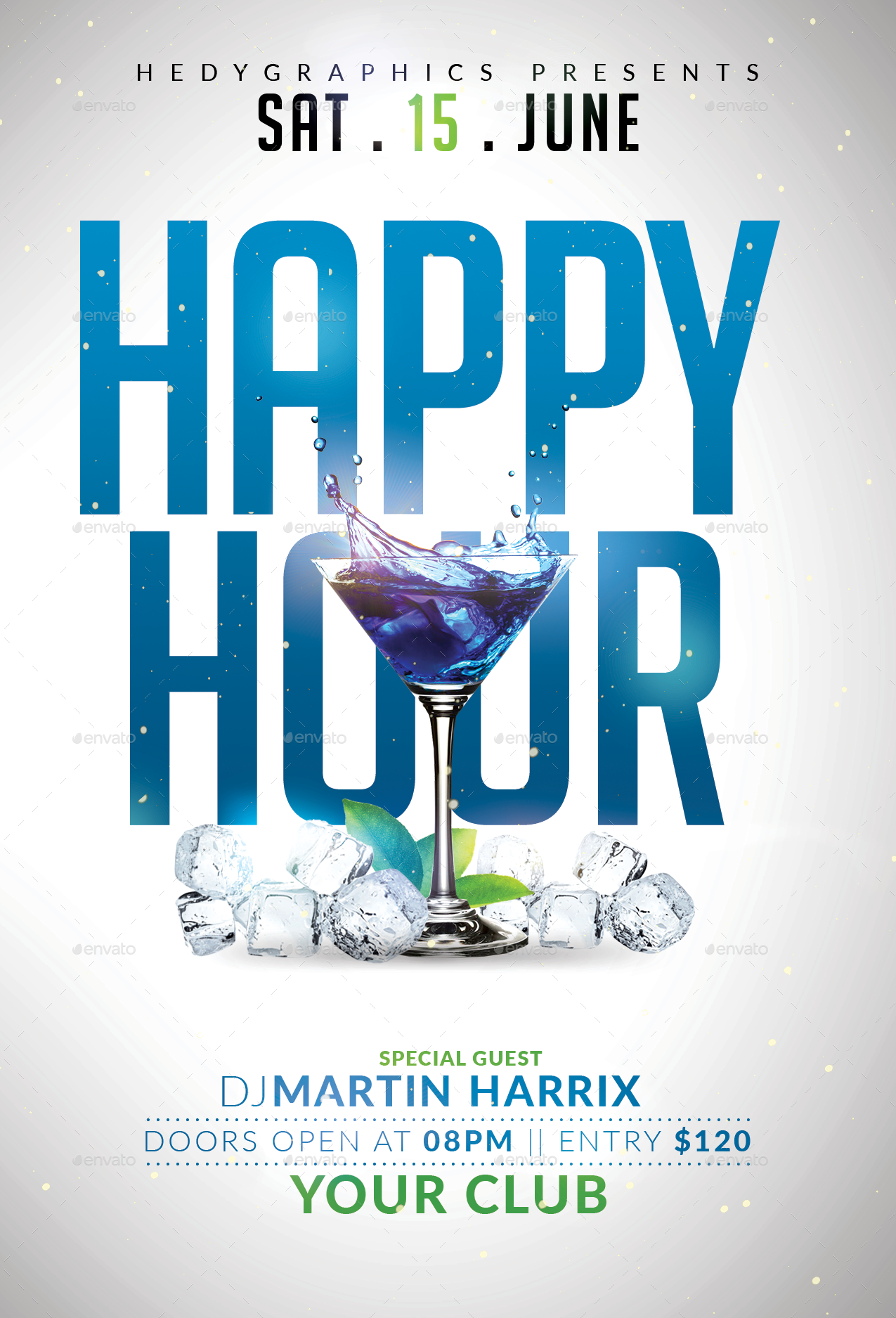 Happy Hour - Flyer Template by HedyGraphics   GraphicRiver