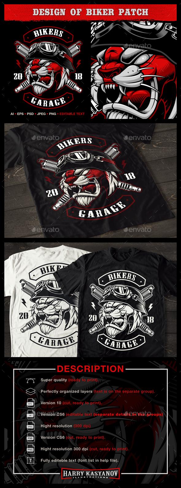 Tiger Biker. - Designs T-Shirts