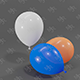 Balloons 3D model - 3DOcean Item for Sale