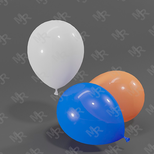 Balloons 3D model - 3DOcean Item for Sale
