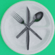 Plastic Fork, Knife, Spoon, and Plate