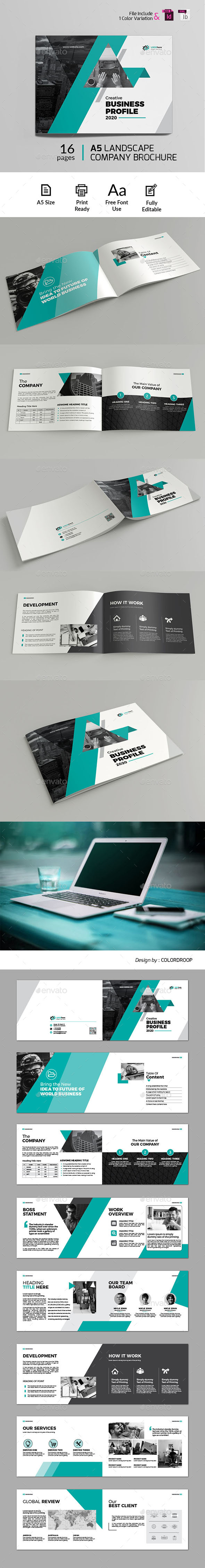 A5 Landscape Company Brochure - Corporate Brochures