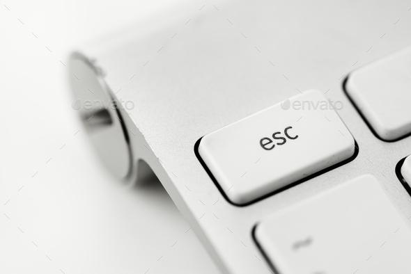 Closeup of computer keyboard - Stock Photo - Images