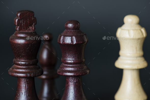 Closeup of chess pieces - Stock Photo - Images