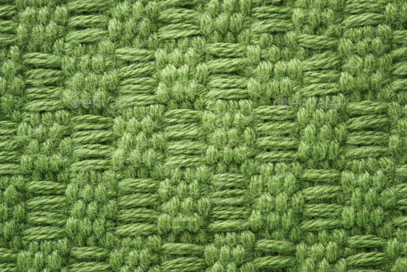 Green fabric closeup - Stock Photo - Images