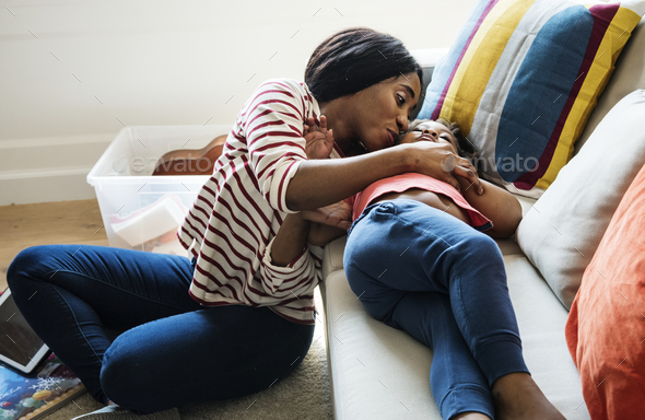 Mom and son spending time together - Stock Photo - Images