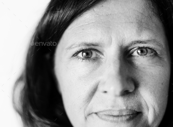 Portrait of Caucasian woman - Stock Photo - Images