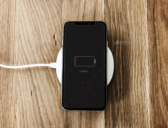 Charging a low battery smartphone - Stock Photo - Images