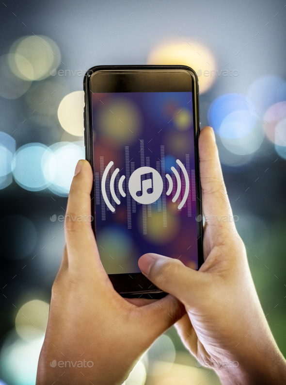 Smartphone music application concept - Stock Photo - Images