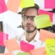 Man Post in Sticky Note While Meeting in Office on the Sticker Is Written NO - VideoHive Item for Sale