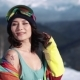 Portrait of Cute Snowboarder Girl Smiling - VideoHive Item for Sale