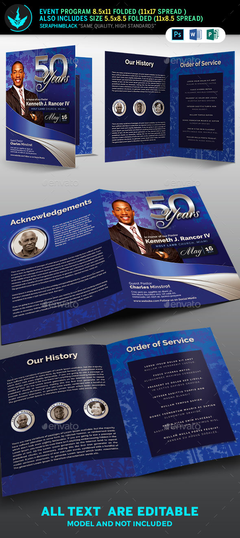 Sapphire blue pastors anniversary church program template by sapphire blue pastors anniversary church program template informational brochures thecheapjerseys Images