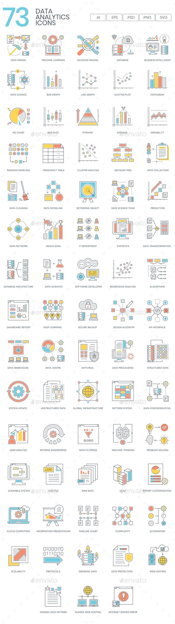 Data Analytics Icons - Icons