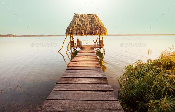 Peten lake - Stock Photo - Images